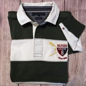 Tommy Hilfiger Rugby Polo Retro Shirt Crew Crest L